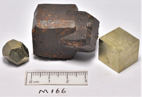 PYRITE CUBE X 1 HEXAGONAL X1,LIMONITE X1 105g (M166)