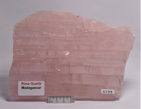 ROSE QUARTZ POLISHED SLICE ,800 Grams, Madagascar (S288)
