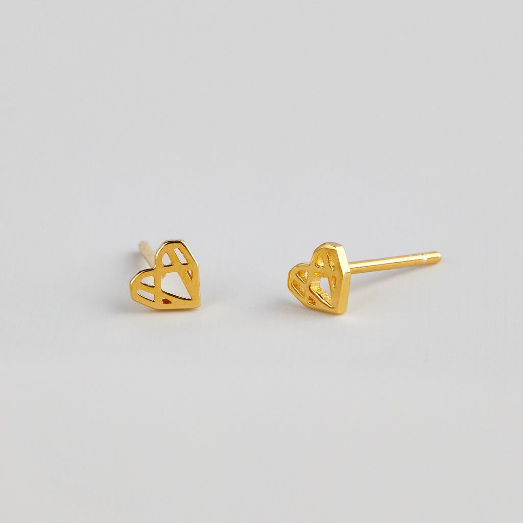 MATTIE MINI HEARTS - GOLD