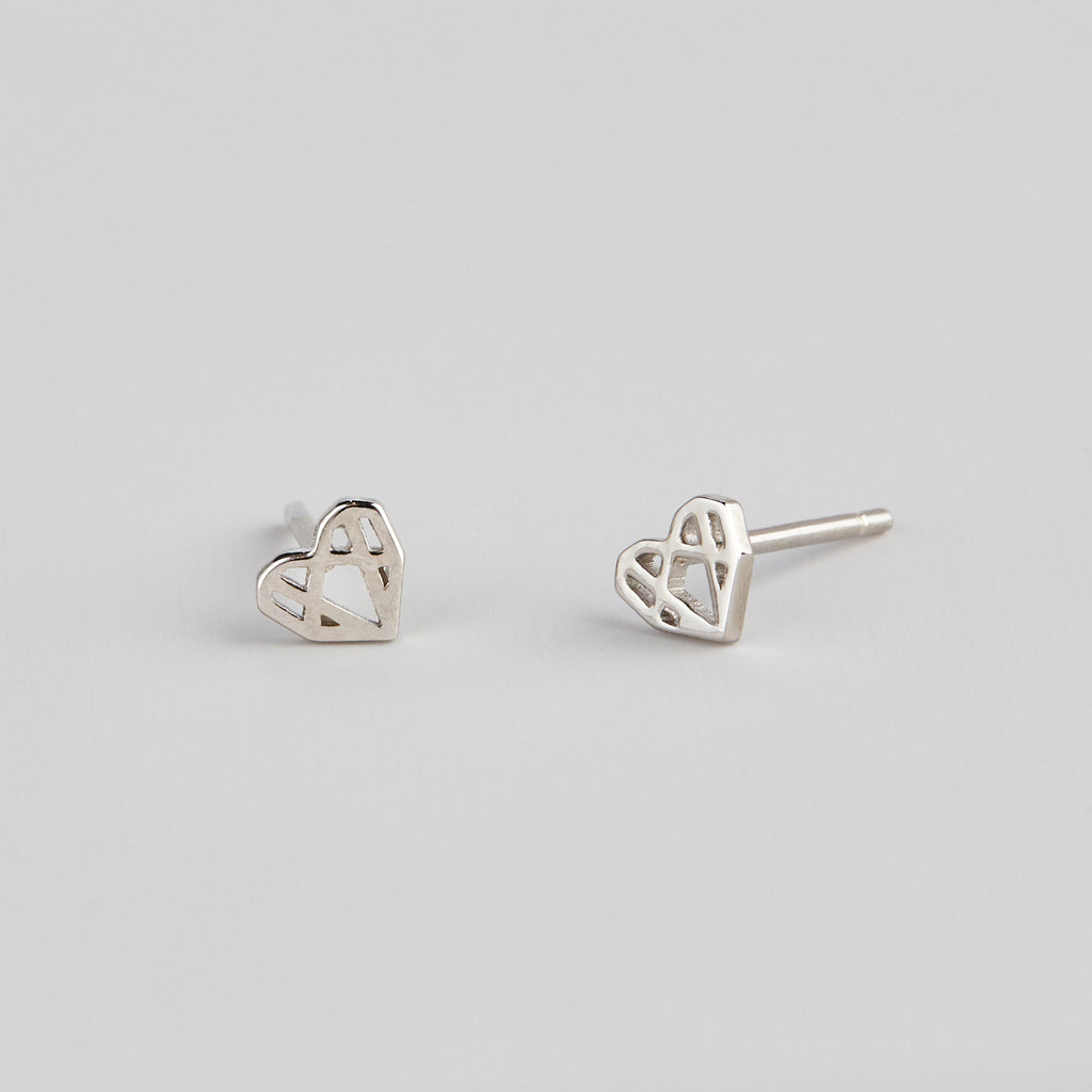 MATTIE MINI HEARTS - SILVER