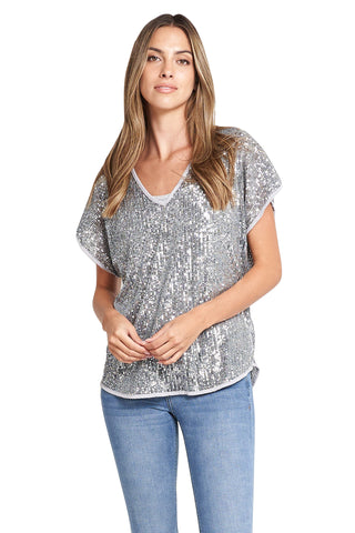 IRENE GREY SEQUINS TOP