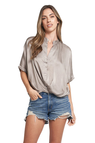 JANE TAUPE TOP