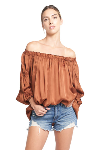 ANDY OFF THE SHOULDER TOBACCO TOP