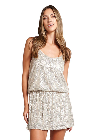 ANNA SHORT CHAMPAGNE DRESS