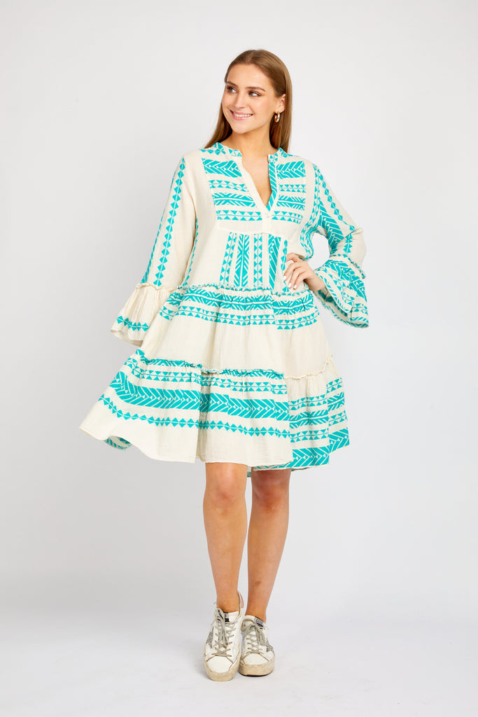 TORI DRESS IN TURQUOISE