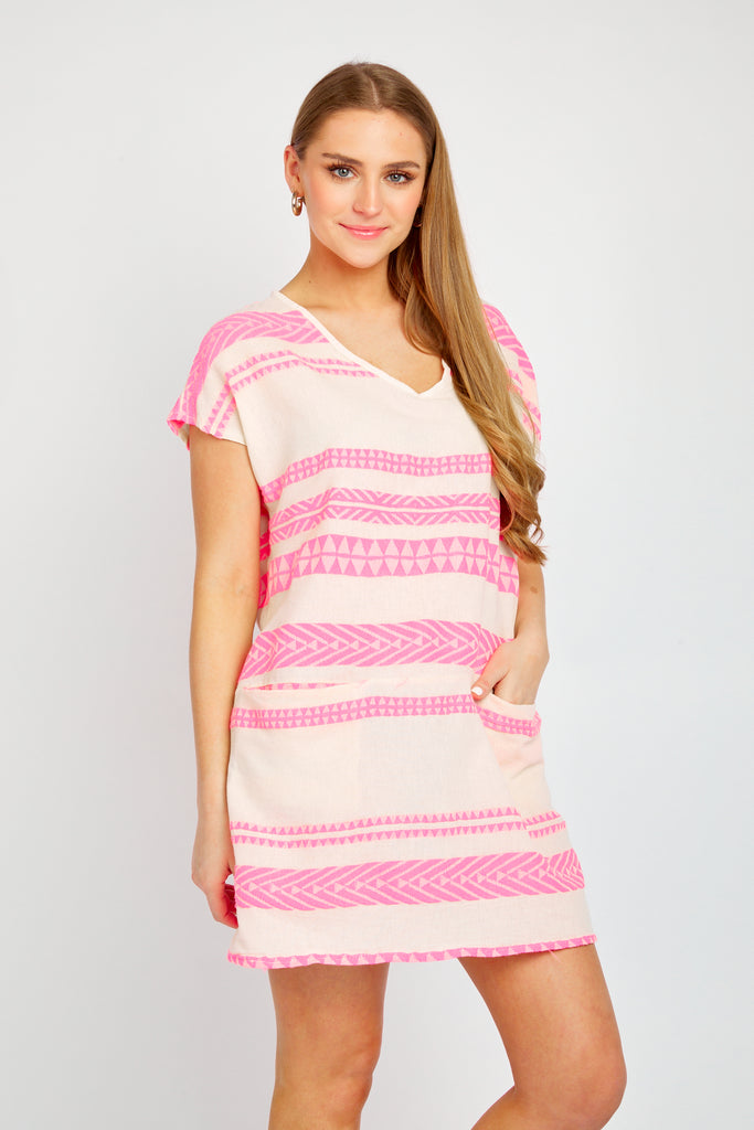 NADINE TUNIC IN HOT PINK