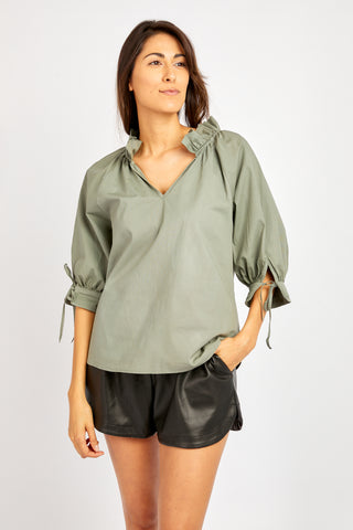 ELOISE MILITARY TOP