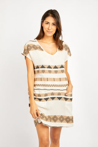 NADINE TUNIC IN AZTEC TAUPE