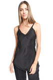 BIANCA BLACK SATIN TANK