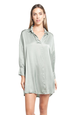 ESTHER MILITARY SATIN TUNIC