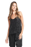 AVA BLACK SEQUINS TOP