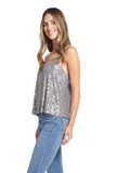AVA GREY SEQUINS TOP