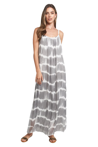 EVELYN GREY SNAKE MAXI
