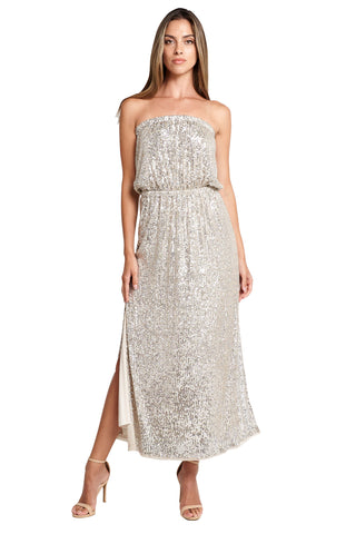 CHARLIZE STRAPPLES CHAMPAGNE MAXI