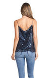 LOREN NAVY SEQUINS TOP