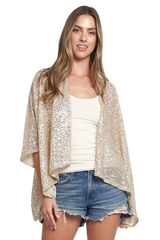 RANIA CHAMPAGNE SEQUINS WRAP