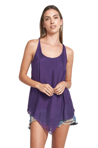 ELLE RACER BACK TANK TOP PURPLE