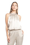 ALEX HALTER TOP CHAMPAGNE