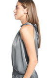 ALEX HALTER TOP GREY