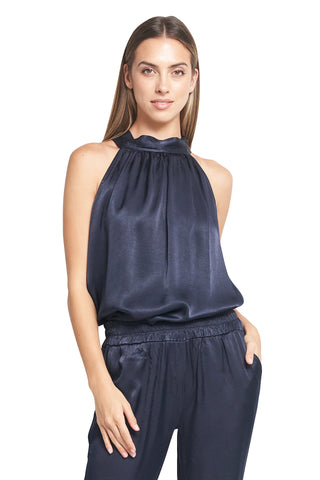ALEX HALTER TOP NAVY
