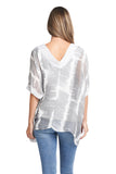 SOPHIE GREY TIE DYE TOP