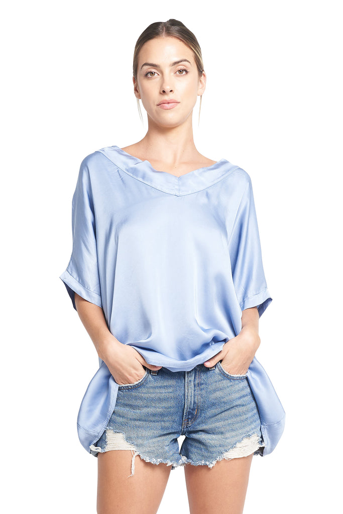 SANDRA FRENCH BLUE TOP