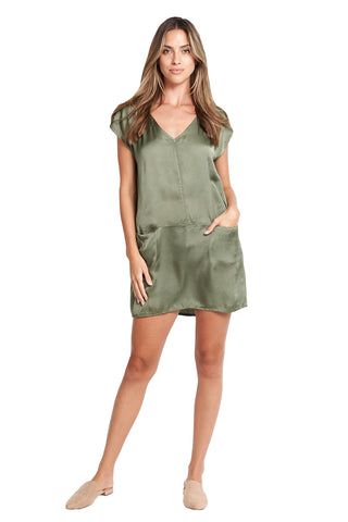 FRIDA MILITARY SATIN TUNIC
