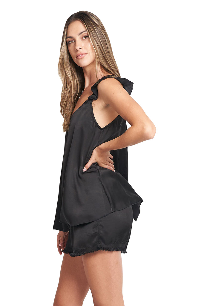 SONIA SATIN BLACK TOP