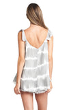 SONIA SATIN GREY TIE DYE TOP