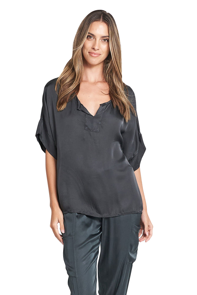 Yassy Charcoal Loose Top