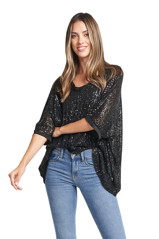 AIZA BLACK SPARKLING TOP