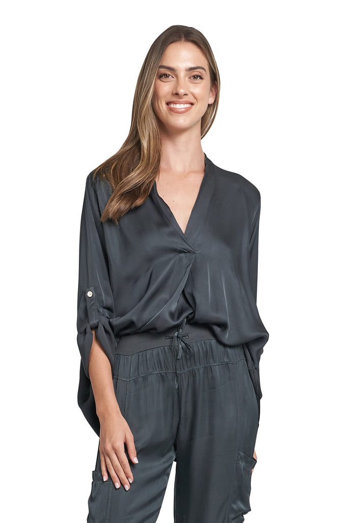 NICOLE CHARCOAL TOP