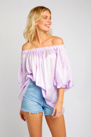ANDY OFF THE SHOULDER LILAC TOP
