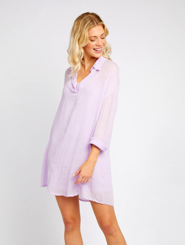 CAMPBELL LILAC GAUZE TUNIC