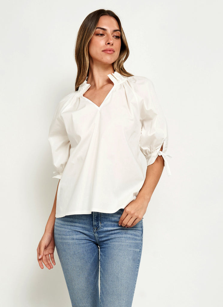ELOISE TOP IN WHITE