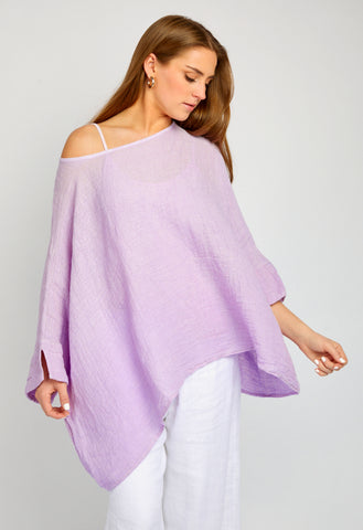 FLORENCE LILAC WASHED PULL OVER