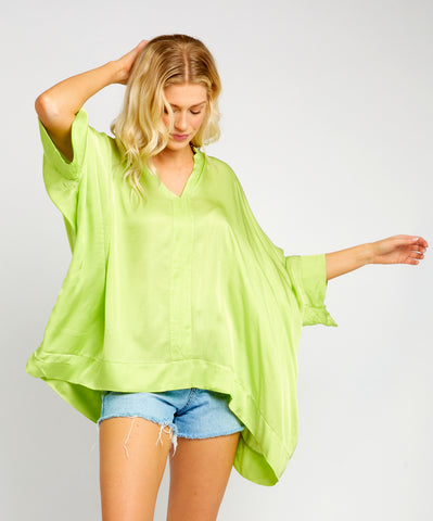 LUCIANA LIME BLOUSE