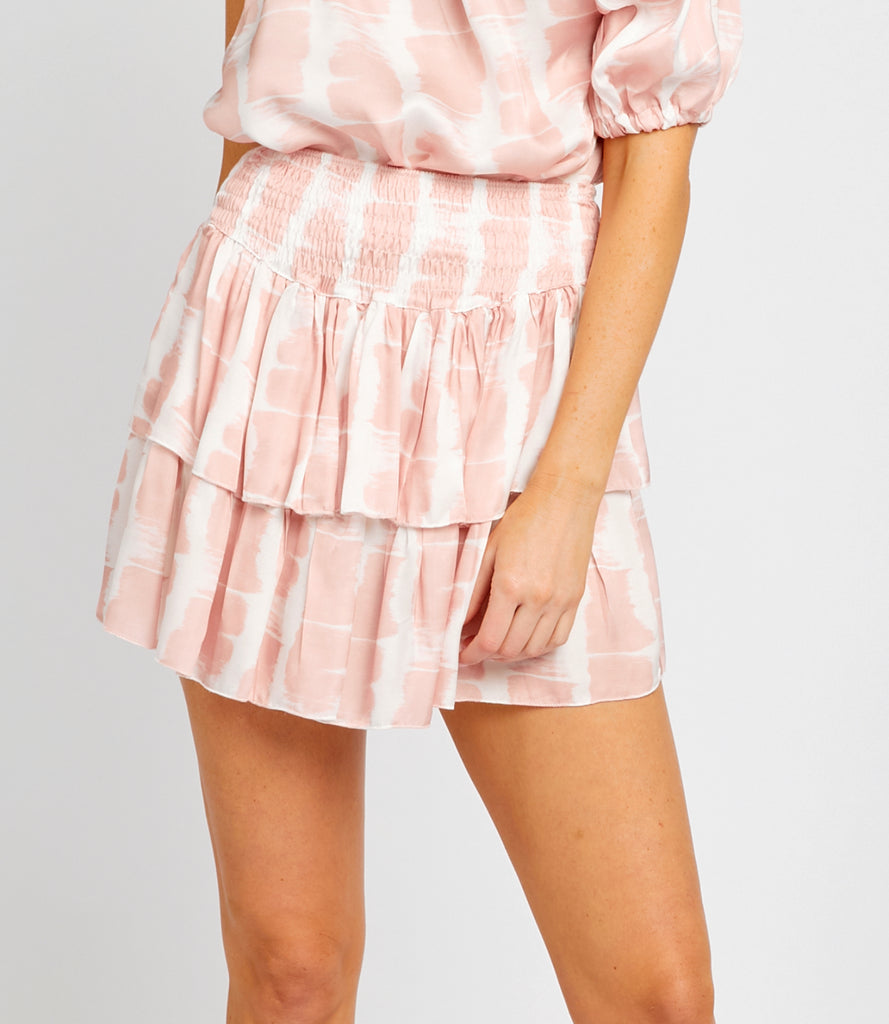 QUINN PINK TIE DYE MINI SKIRT