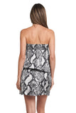 KIM GREY SNAKE TUBE DRESS