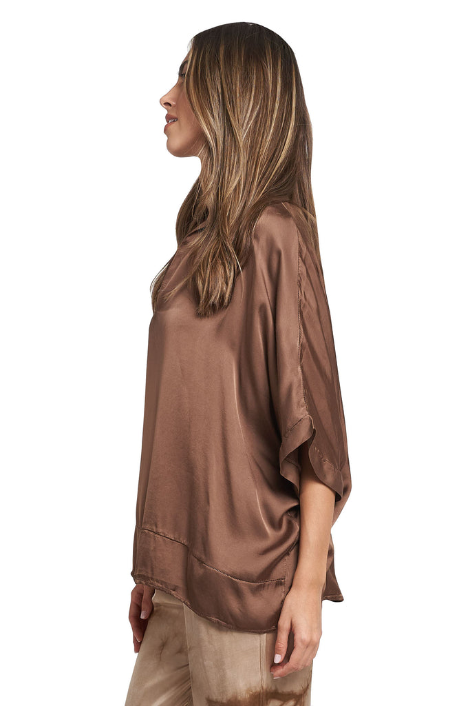 MARIA  LATTE SATIN TOP