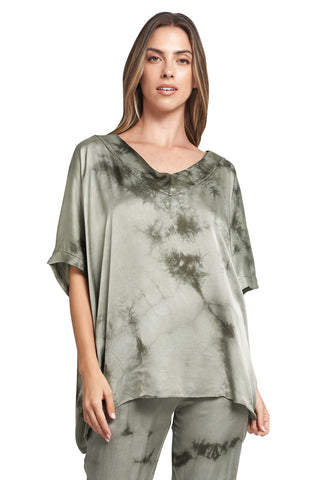 SANDRA MILITARY TIE DYE TOP