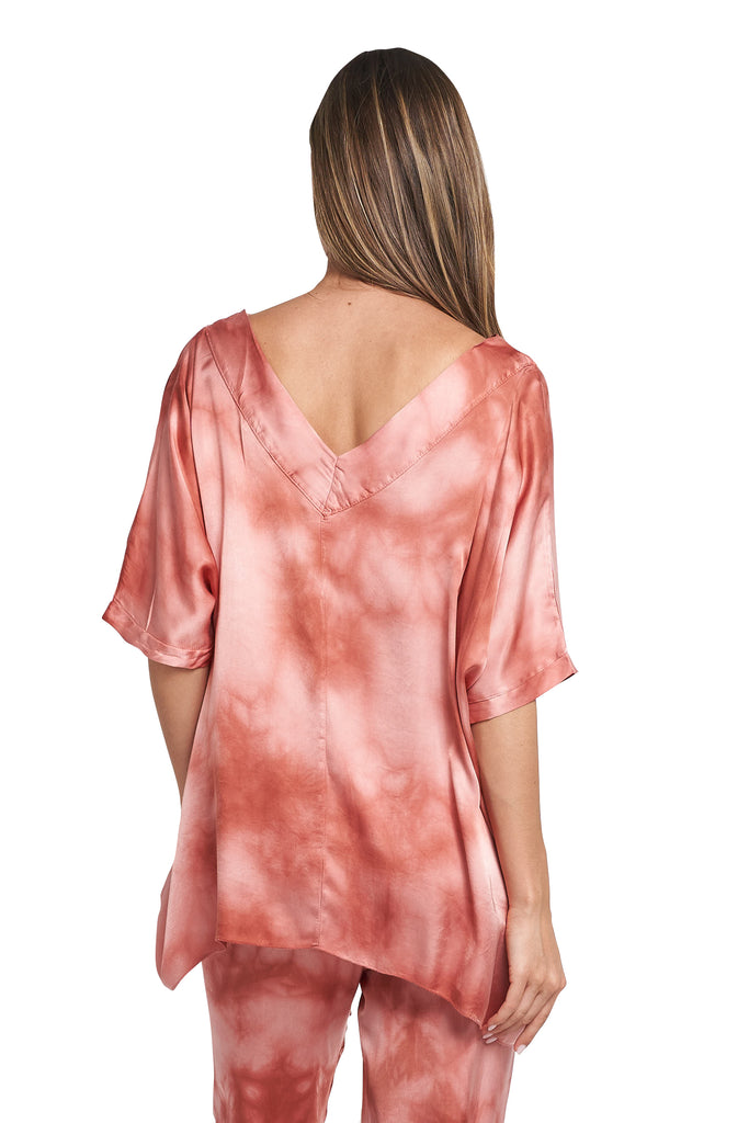 SANDRA RED TIE DYE TOP