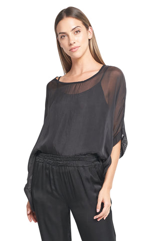 FIONA BLACK SILK TOP