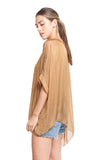FIONA BRONZE SILK TOP