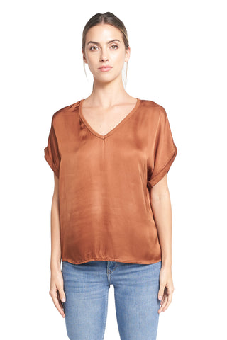 TESSA TABACCO V-NECK TOP