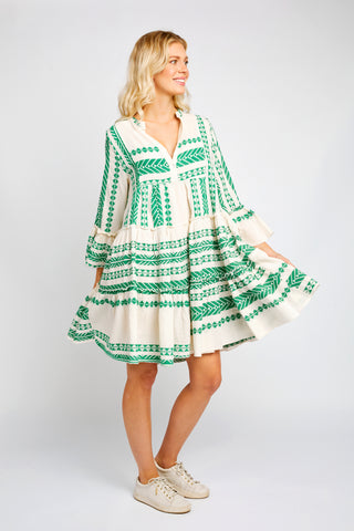TORI DRESS IN GREEN
