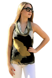 ALEXA COWL NECK TANK TOP MILITARY