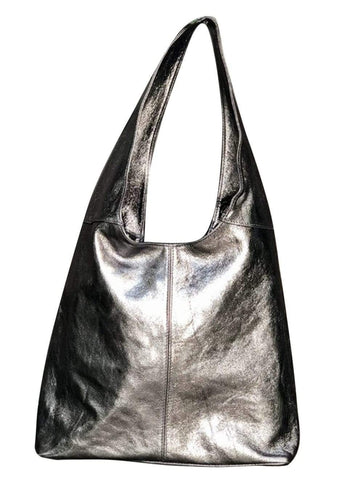 shop-sofia Amber Pewter Grab Bag Sofia Collections Italian Silk Linen Satin