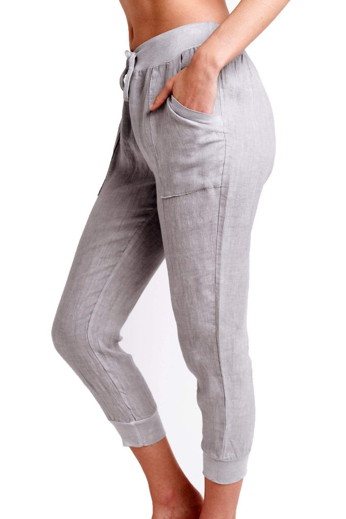 shop-sofia Ana Jogger Sofia Collections Italian Silk Linen Satin