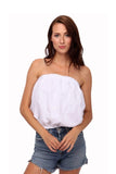 shop-sofia Tops WHITE Ana Top Sofia Collections Italian Silk Linen Satin